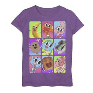 CARTOON NETWORK グラフィック Tシャツ 紫 パープル ヘザー 【 PURPLE HEATHER CARTOON NETWORK AMAZING WORLD OF GUMBALL CAST PICTURES GRAPHIC TEE 】 キッズ ベビー マタニティ トップス Tシャツ