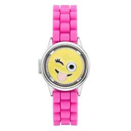 ウォッチ 時計 ピンク KIDS' 【 WATCH PINK LIMITED TOO EMOJI SPINNER FLIPUP LID 】 ※入荷時に電池が切れの場合もありますので予めご了承ください。
