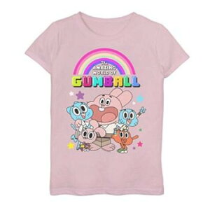 CARTOON NETWORK グラフィック Tシャツ ピンク 【 PINK CARTOON NETWORK THE AMAZING WORLD OF GUMBALL GROUP GRAPHIC TEE 】 キッズ ベビー マタニティ トップス Tシャツ