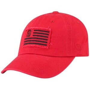 TOP OF THE WORLD ノース カロライナ スケートボード ウルフパック キャップ キャップ 帽子 赤 レッド 【 STATE RED TOP OF THE WORLD ADULT NORTH CAROLINA WOLFPACK FLAG ADJUSTABLE CAP NST 】 バッグ キャップ