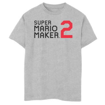 UNBRANDED ロゴ グラフィック Tシャツ ヘザー 【 HEATHER UNBRANDED NINTENDO SUPER MARIO MAKER 2 SIMPLE LOGO GRAPHIC TEE ATHLETIC 】 キッズ ベビー マタニティ トップス Tシャツ