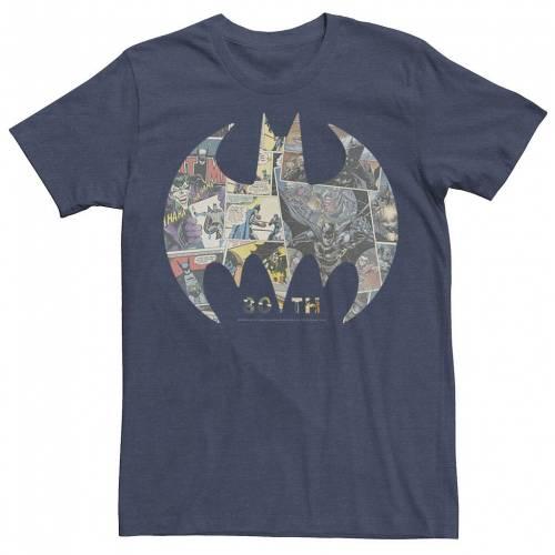 トップス, Tシャツ・カットソー DC COMICS T DC HEATHER COMICS BATMAN COMIC COVER LOGO TEE NAVY