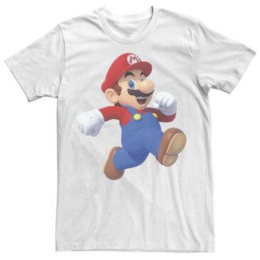 LICENSED CHARACTER キャラクター Tシャツ 白色 ホワイト 【 LICENSED CHARACTER NINTENDO SUPER MARIO RUNNING TEE WHITE 】 メンズファッション トップス Tシャツ カットソー