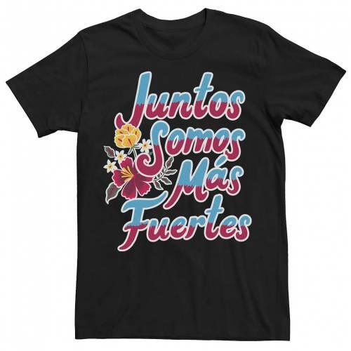 トップス, Tシャツ・カットソー LICENSED CHARACTER T LICENSED CHARACTER GONZALES JUNTOS SOMOS MAS FUERTES HOMBRE TEXT TEE BLACK