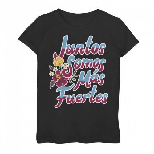 トップス, Tシャツ・カットソー LICENSED CHARACTER T S LICENSED CHARACTER GONZALES JUNTOS SOMOS MAS FUERTES HOMBRE TEXT TEE BLACK