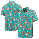UNBRANDED アクア マイアミ ドルフィンズ ウーブン メンズ 【 WOVEN UNBRANDED AQUA FLORAL BUTTONUP SHIRT DOL TURQ A 】