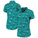 UNBRANDED アクア マイアミ ドルフィンズ 【 UNBRANDED AQUA FLORAL HARMONIC BUTTONUP SHIRT DOL TURQ A 】