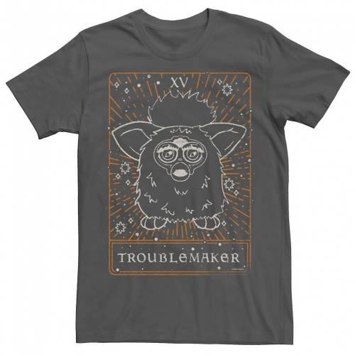 トップス, Tシャツ・カットソー  T LICENSED CHARACTER FURBY TAROT TROUBLEMAKER TEE CHARCOAL
