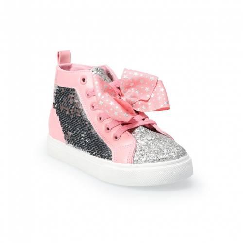 靴, スニーカー JOJO SIWA S PINK JOJO SIWA STAR HIGH TOP SHOES LIGHT