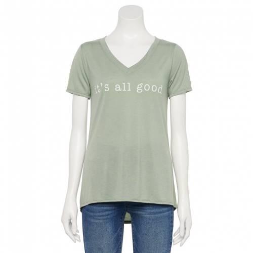トップス, Tシャツ・カットソー V T ITS GOOD34; JERRY LEIGH ALL VNECK TEE SAGE