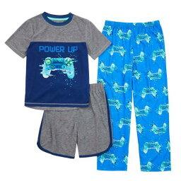 パワー ショーツ ハーフパンツ 青色 ブルー TOP, & 【 POWER CUDDL DUDS S 416 UP VIDEO GAMES SHORTS PANTS PAJAMA SET BLUE GAMER 】