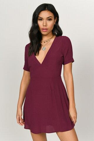 TOBI ドレス レディースファッション 【 Kristi Aline Dress 】 Wine