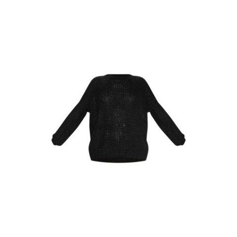 SWAGGER 黒 ブラック 【 BLACK OVERSIZED FLUFFY JUMPER 】 レディースファッション トップス ニット セーター 送料無料