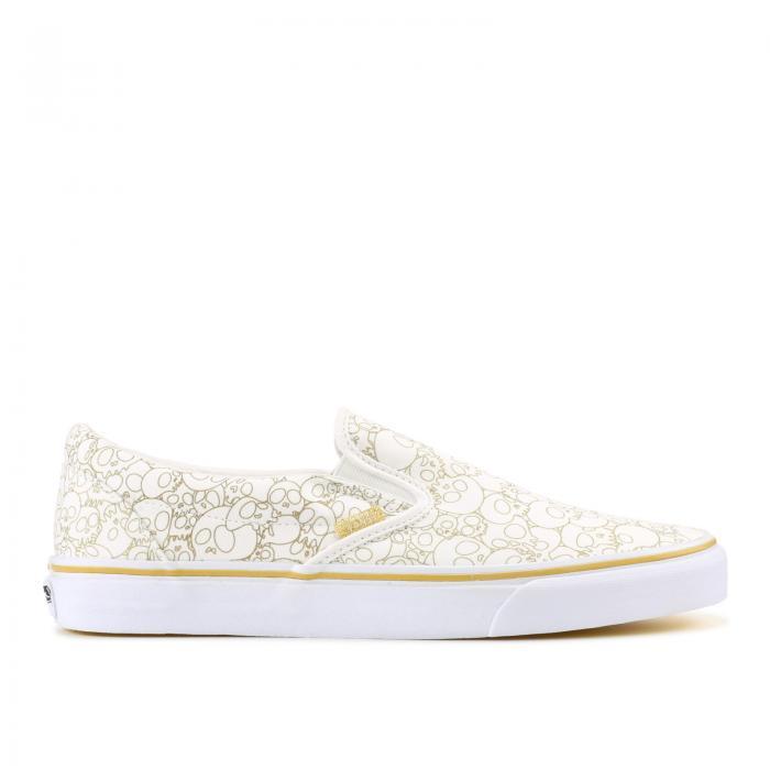 メンズ靴, スニーカー  VANS GOLD SKULL VANS SLIPON TAKASHI MURAKAMI X LX GOLD LINE SKULL