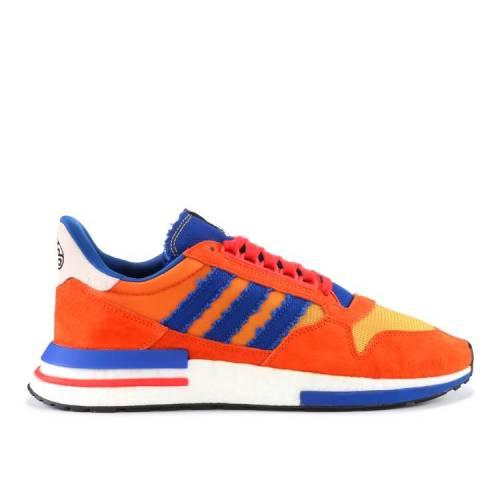 メンズ靴, スニーカー  ADIDAS SON GOKU ORANGE RED ADIDAS DRAGON BALL Z X ZX 500 RM COLLEGIATE ROYAL HIRES