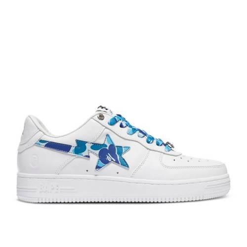メンズ靴, スニーカー  BAPE BLUE CAMO BAPE BAPESTA WHITE BLUE