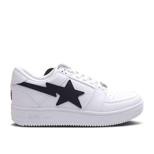 メンズ靴, スニーカー  BAPE WHITE BLACK BAPE BAPESTA LOW WHITE