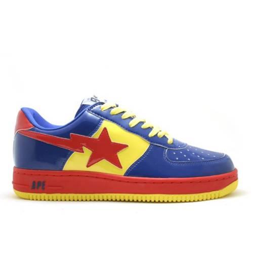 メンズ靴, スニーカー  BAPE SUPERMAN YELLOW RED BAPE BAPESTA FS001 LOW NAVY