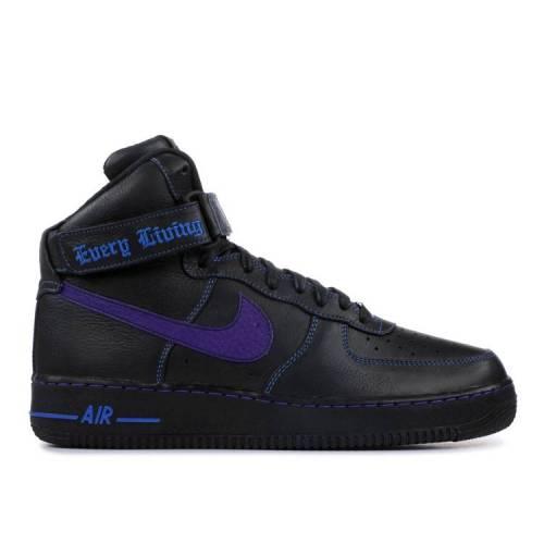 メンズ靴, スニーカー  NIKE PURPLE SWOOSH NIKE VLONE X 1 HIGH SAMPLE BLACK COURT PURPLEPRIZE BLUE