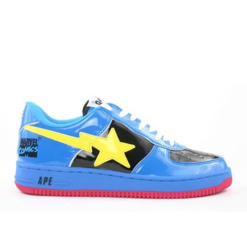 メンズ靴, スニーカー  BAPE CYCLOPS BAPE MARVEL COMICS X BAPESTA FS001 LOW BLACK BLUE
