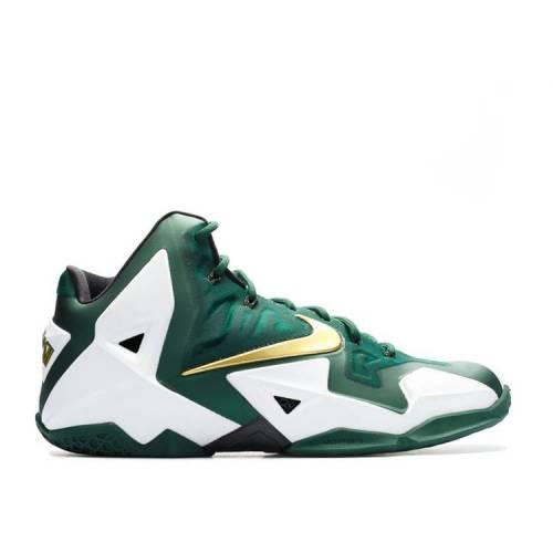 メンズ靴, スニーカー  NIKE SVSM GREEN NIKE LEBRON 11 SAMPLE WHITE