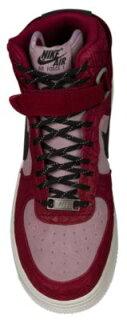 NikeNikeナイキAirairエアーForce1Highハイ-WomensレディースNoble赤・レッド/black黒・ブラック/PlumFog