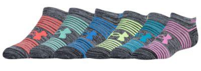 アンダーアーマー ソックス 靴下 女の子用 (小学生 中学生) 子供用 under armour essential 6 pack no show socks ベビー タイツ キッズ マタニティ