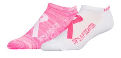 アンダーアーマー パワー pk ピンク 2.0 ソックス 靴下 女の子用 (小学生 中学生) 子供用 under armour power in pink 20 no show 2pk socks キッズ ベビー マタニティ タイツ