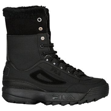 【海外限定】fila フィラ disruptor shearling boots レディース