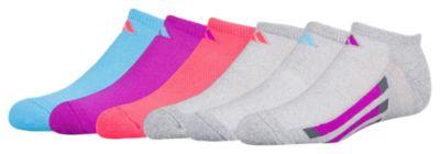 adidas アディダス vertical stripe ストライプ 6pack no show socks ソックス 靴下 女の子用 (小学生 中学生) 子供用 タイツ ベビー キッズ マタニティ