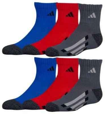 adidas vertical stripe 6pack quarter socks アディダス ストライプ ソックス 靴下 男の子用 (小学生 中学生) 子供用 タイツ ベビー マタニティ キッズ