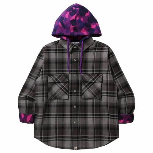 メンズファッション, コート・ジャケット  A BATHING APE MEN BAPE CHECK HOODIE JACKET BLACK