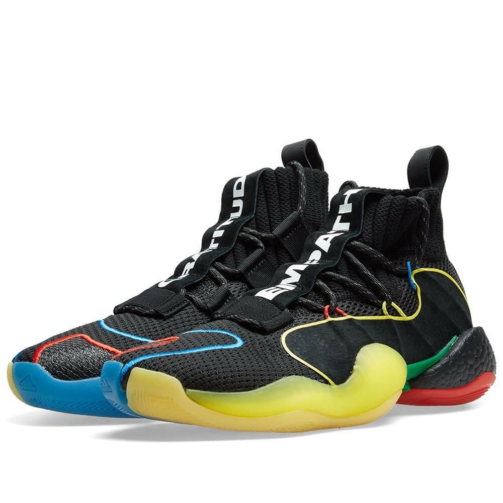 メンズ靴, スニーカー ADIDAS CONSORTIUM Adidas Crazy Byw Lvl X Pharrell Williams Gratitude And Empathy Black Multi