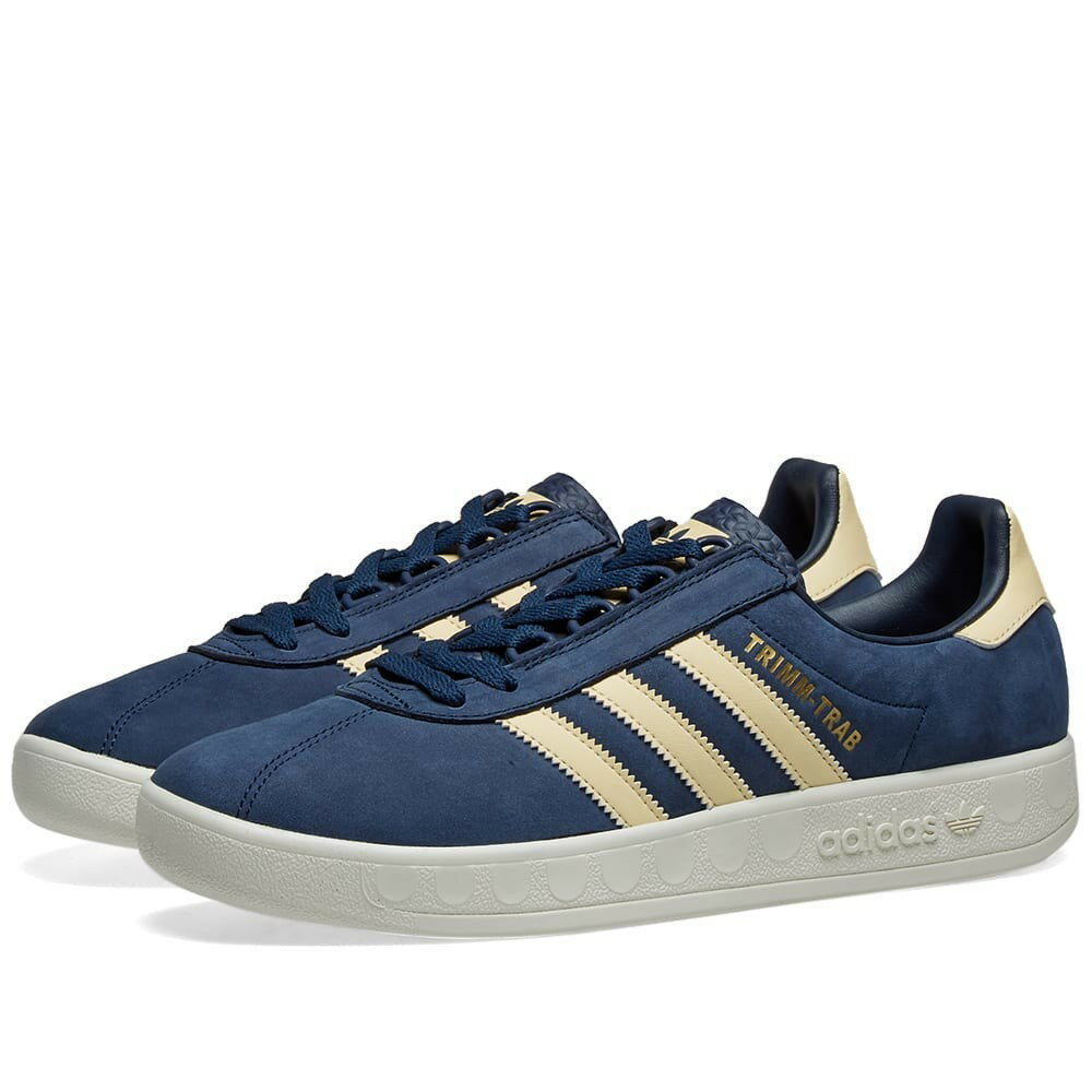 メンズ靴, スニーカー  ADIDAS NAVY, YELLOW TRIMM TRAB SAMSTAG CREAM WHITE