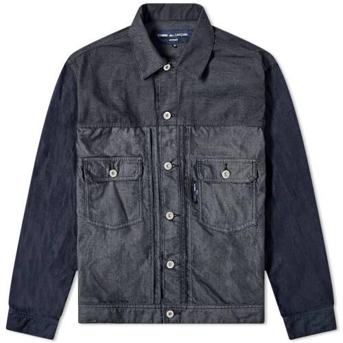 メンズファッション, コート・ジャケット COMME DES GARCONS HOMME GARMENT DYED TWILL JACKET NAVY MIX