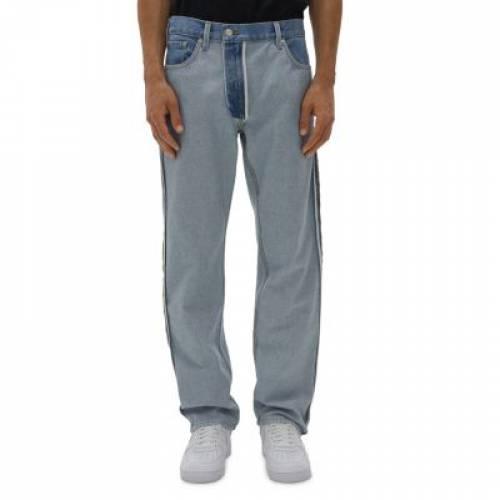メンズファッション, ズボン・パンツ  HELMUT LANG RV 1999 STRAIGHT FIT JEANS LIGHT WASH