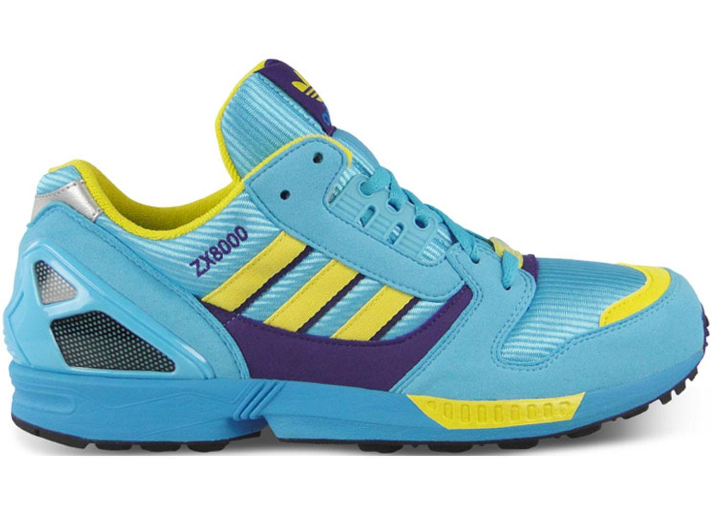 メンズ靴, スニーカー  ADIDAS ZX 8000 OG AQUA LIGHT LEMON PEEL VIOLET