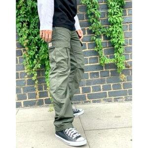 カーゴ カーキ メンズファッション ズボン パンツ 【 CARHARTT WIP AVIATION CARGO TAPERED TROUSERS IN KHAKI 】