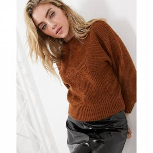 トップス, その他  TOPSHOP RIBBED JUMPER IN CONKER