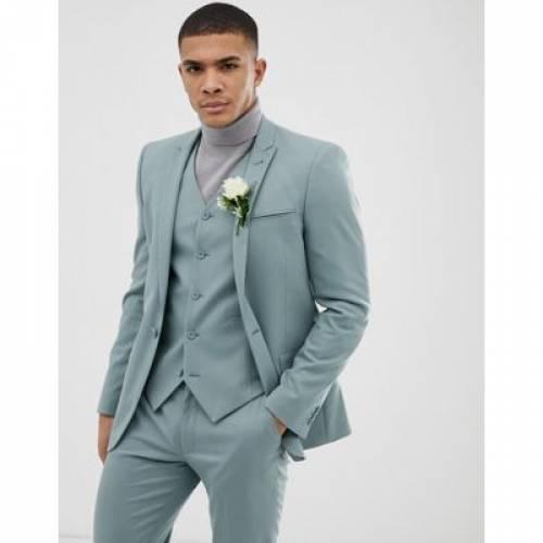 メンズファッション, コート・ジャケット  BLUE ASOS DESIGN WEDDING SKINNY SUIT JACKET IN PASTEL