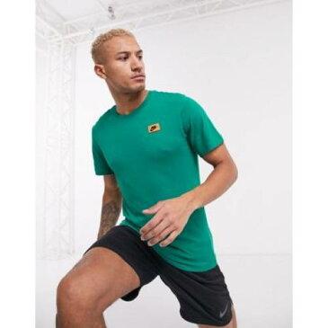 トレーニング Tシャツ 緑 グリーン メンズファッション トップス カットソー 【 GREEN NIKE TRAINING TSHIRT IN 】