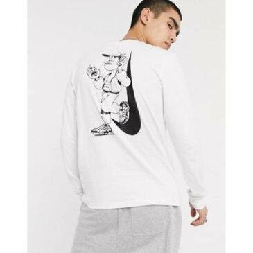 スリーブ Tシャツ 白 ホワイト メンズファッション トップス カットソー 【 SLEEVE WHITE NIKE LUGOSIS ARTIST PACK LONG TSHIRT IN 】