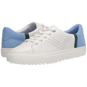 TORY SPORT ゴルフ 白 ホワイト エース 青 ブルー スニーカー 【 GOLF WHITE BLUE TORY SPORT PERFORATED LACEUP SNEAKER SNOW ACE CONIFER 】