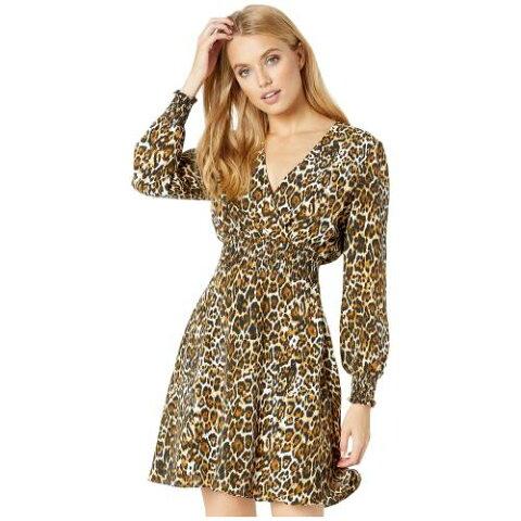 WAYF ドレス 【 WAYF SORA SMOCKED WAIST MINI DRESS LEOPARD 】 レディースファッション ドレス