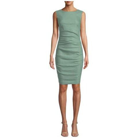 NICOLE MILLER ドレス 【 NICOLE MILLER LAUREN STRETCH LINEN DRESS SAGE 】 レディースファッション ワンピース