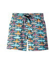 VILEBREQUIN KIDS 【 26TH JULY MYKONOS SUPERFLEX JIRISE PRINTED TRUNKS TODDLER LITTLE BIG BLUE 】 キッズ ベビー マタニティ 送料無料