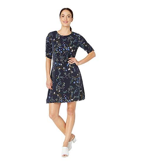 レディースファッション, ワンピース  SLEEVE RUCHED FLORAL VINE BOUQUET DRESS