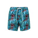 SNAPPER ROCK 【 JUNGLE FEVER SWIM TRUNKS OPEN BLUE 】 キッズ ベビー マタニティ 送料無料