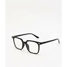 EYEKING 黒色 ブラック 眼鏡 メンズ 【 EYEKING PRETENDER SQUARE FRAME BLACK CLEAR GLASSES 】