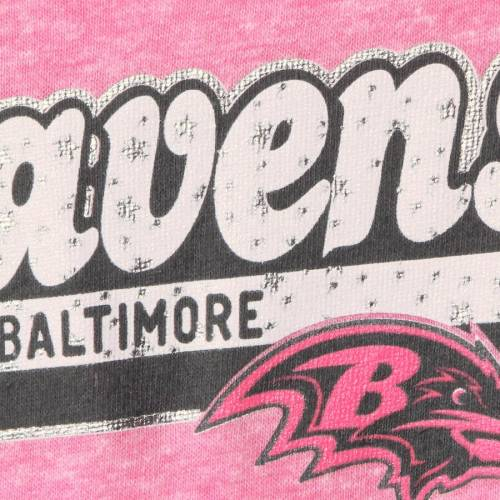 5TH & OCEAN BY NEW ERA ボルティモア レイブンズ 子供用 ゲーム Tシャツ ピンク & 【 GAME PINK 5TH OCEAN BY NEW ERA BALTIMORE RAVENS GIRLS YOUTH STAR OF THE TRIBLEND TSHIRT 】 キッズ ベビー マタニティ トッ画像
